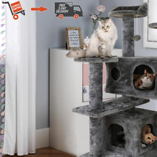 New listing 52in Cat Tree Condo Scratching Activity Tower Play Together with Perches Hammock