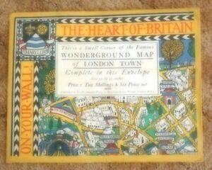 fl415f - Vtg. Original(1924)Macdonald Gill ~ WONDERGOUND MAP of LONDON TOWN ~