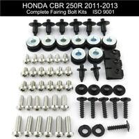 Fit For Honda CBR 250R 2011 2012 2013 Stainless Steel Fairing Bolts Kit Screws