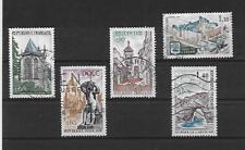 lot de 5 timbres oblitérés 1971 série touristique complète YT 1683 à 1687