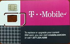 Used T-MOBILE NANO SIM  TO BOOT OR TESTING UNLOCK GSM phone UNLOCKING TMOBILE