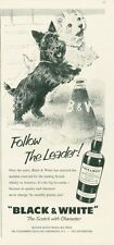 "1959 Black & White PRINT AD Scottish Terrier & Westie  ""Follow the Leader!"""