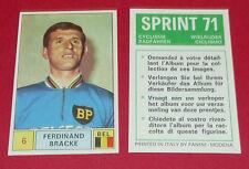 N°6 FERDINAND BRACKE BELGIË PANINI SPRINT 71 CYCLISME 1971 WIELRIJDER CICLISMO
