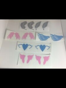 Angel Wings Feathers Vinyl Decals X 12  Glass Bottle Box Frame Bauble Mirror