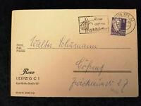 Deutschland Alliierte Besetzung 14.07.1952 - Brief Leipzig nach Gößnitz