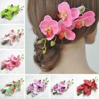 la pince à cheveux artificial des accessoires pour cheveux la fleur d'orchidée