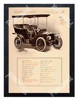 Historic Meteor Motorcar Worthington Automobile Co NY 1905 Advertising Postcard