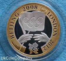 2008 Silver Proof £2 Two Pound Coin United Kingdom Olympic Games Handover Boxed