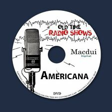 Americana Old Time Radio Shows Variety 2 OTR MP3 Audio Files on 1 Data DVD