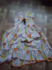 Adorable robe de créateur,shabby magnolia boheme (voire mesures)