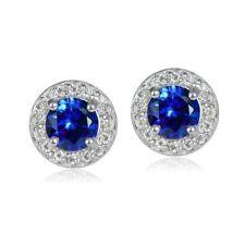 Topaz Sapphire Fine Gemstone Earrings