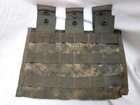 US Military Surplus Triple Mag Pouch ACU US ARMY Molle Air Soft Digital Camo