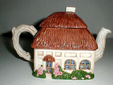 Ann Hathaway English Cottage Ceramic Teapot  EXC