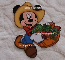 DISNEY GARDEN GRILL MICKEY w/ Vegetables Printed Scrapbook Page Paper Piece
