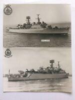 2 x Royal Navy HMS Fife Postcard Sized Real Photo