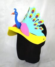 Peacock Bird Animal Zoo Foam Party Costume Fancy Dress Hat Cap Visor New