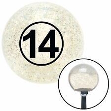 Black Ball #14 Clear Metal Flake Shift Knob with M16 x 1.5 Insert sportsman