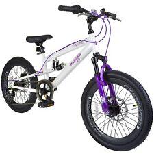 "Muddyfox Hawaii 20"" Girls Dual Suspension Mountain Bike in White and Purple 7spd"