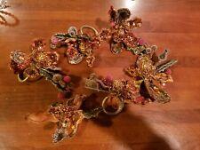 Set of 6 Holiday Napkin Ring Holders