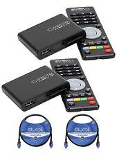 Lot Of 2....Micca Speck G2 1080p Full HD IR Remote Digital Media Players.. NEW