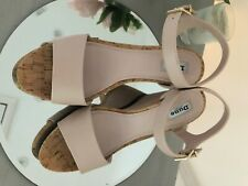 ladies size 6 gorgeous Dune cork wedge with suede heel shoes