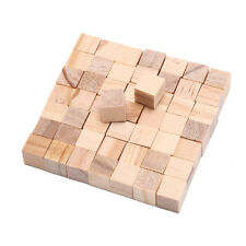 50Pcs wooden square tiles for crafts wood family fun board games accessoryGT