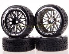 4PCS RC 1:10 Car On Road 26MM Wheel Rim & Hard Drift Tyre,Tires 1010-9016