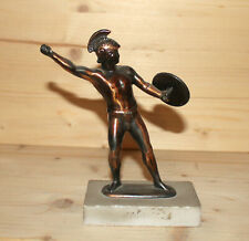 Vintage hand made metal figurine spartan warrior