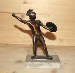 Vintage hand made metal figurine spartan warrior