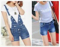 AU SELLER Jeans Denim Overalls Jumpsuit Playsuits Strap Take Off Shorts ju016