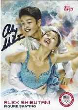ALEX SHIBUTANI Figure Skating signed Topps Trading Card USA Sochi Olympics