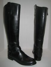 TORY BURCH DERBY BLACK LEATHER TALL RIDING BOOTS WOMEN'S SIZE 7 $495+