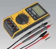 Sealey 5in1 Digital Multimeter/Voltmeter + Test Leads/Probe & Thermocouple TM104