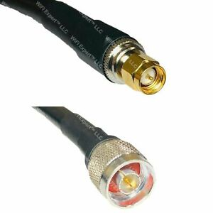 USA-CA LMR400 SMA MALE to N MALE Coaxial RF Pigtail Cable Fast Ship Lot