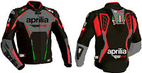Aprilia Men Motorcycle Street Racing Motorbike CE Armour Leather Sports Jacket