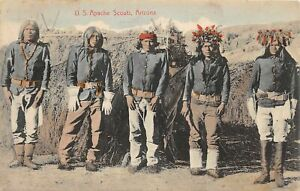 J2/ Native American Indian Postcard c1910 U.S. Apache Scouts Arizona 47