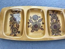 RETRO VINTAGE Palissy Royal Worcester 70's Nibble Tray Mustard & Brown