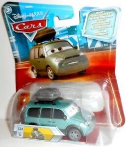 Look - VAN with Stickers #124 Chase vehicle Disney Cars Mattel Eyes Change