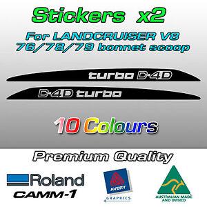D4D turbo Sticker for Toyota Landcruiser VDJ 70 76 78 79 series bonnet scoop