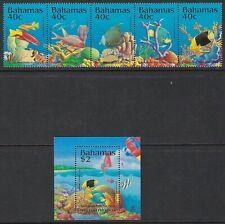 BAHAMAS:1994 Environmental Protection set +MS SG1017-21 +MS1022 MNH