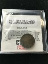 1864  No L, USA, Small One Cent, Filler