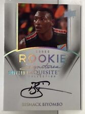 Bismack Biyombo 2011-12 UD Exquisite RC on-card Autograph Auto #'d/199 - RAPTORS