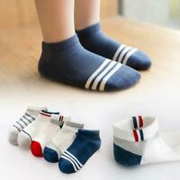 5 Pairs Toddler Boys Ankle Socks Cotton Breathable