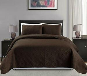 """Mk Collection King/California King Over Size 118""""X106"""" 3 Pc Diamond Bedspread Be"""