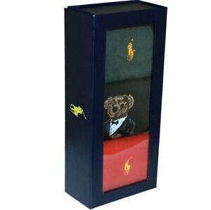 Polo Ralph Lauren:3-Pack Xmas Bear Flat-Knit Socks Gift Box
