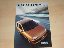 59065) Fiat Seicento Hobby Prospekt 01/1999
