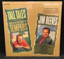 """Jim Reeves Vinyl Records Country Music Record Tall Tales Short & Tempers LP 12"""""""