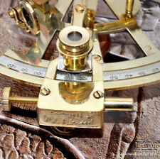 """4"""" Solid Brass Sextant Nautical Working Instrument Astrolabe Ships Maritime Gift"""