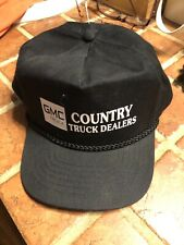 New listing NWOT Vintage GMC COUNTRY TRUCK DEALERS Snapback Rope Style Black Cap Hat