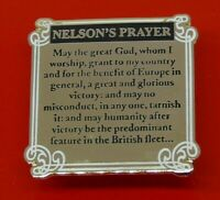 Danbury Mint Enamel Pin Badge Life of Horatio Nelson Nelsons Prayer Last Journal